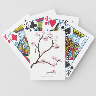 sakura blossom with pink birds, tony fernandes bicycle playing cards