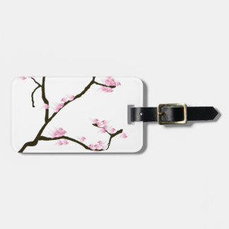 sakura blossom with pink birds, tony fernandes luggage tag