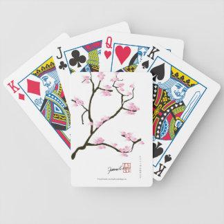 sakura blossom with pink birds, tony fernandes poker deck