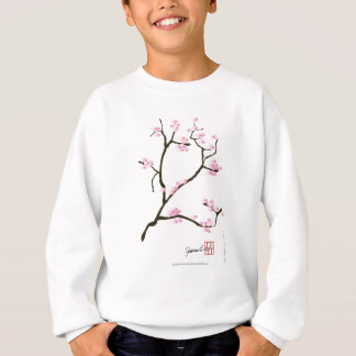 sakura blossom with pink birds, tony fernandes sweatshirt