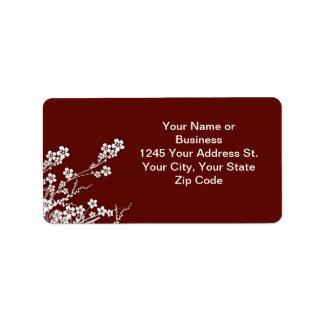 sakura blossoms address label