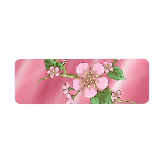 Sakura Blossoms Return Address Label