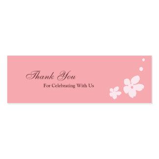 Sakura Blossoms Silhouette Favour Tag Business Card Templates