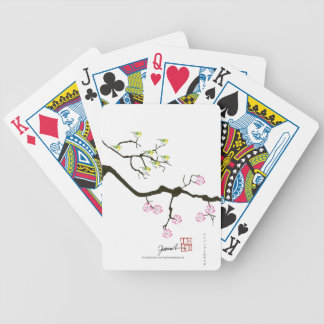 sakura blossoms with birds, tony fernandes bicycle playing cards