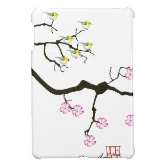 sakura blossoms with birds, tony fernandes case for the iPad mini