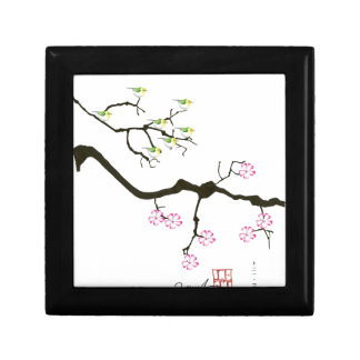 sakura blossoms with birds, tony fernandes gift box