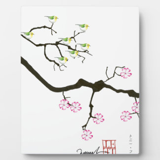 sakura blossoms with birds, tony fernandes plaque