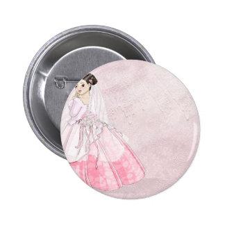 Sakura Bride Pinback Button