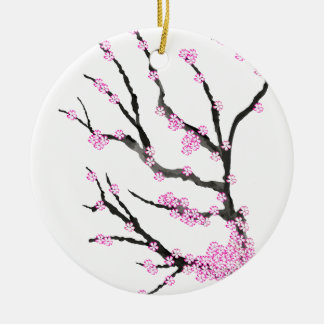 Sakura Cherry Blossom 21,Tony Fernandes Ceramic Ornament