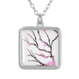 Sakura Cherry Blossom 21,Tony Fernandes Silver Plated Necklace