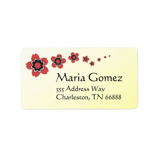 Sakura Cherry Blossom Address Label