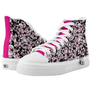 Sakura Cherry blossom High Top Shoes Printed Shoes