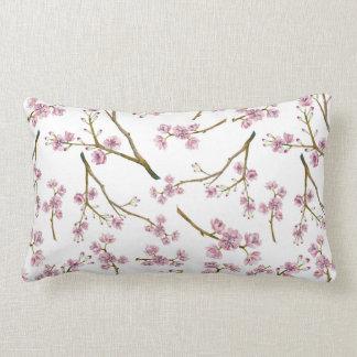 Sakura Cherry Blossom Print Lumbar Pillow