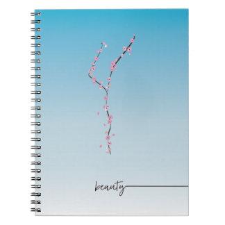 sakura cherry blossom spiral journal __ beauty