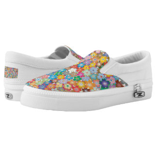 Sakura Cherry Blossoms Abstract Art Slip-On Shoes