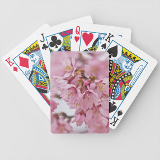Sakura Cherry Blossoms Pale Pink Bicycle Playing Cards