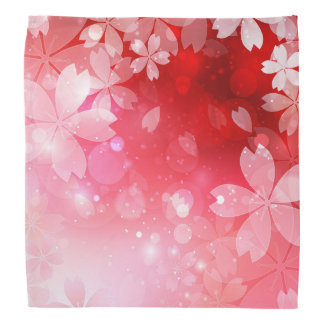 Sakura Cherry Blossoms Red Pink White Flowers Bandannas