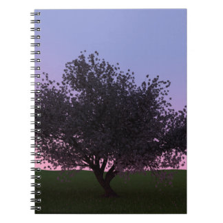 Sakura Cherry Tree at Dusk Notebook