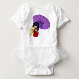 Sakura Doll with Umbrella Baby Bodysuit