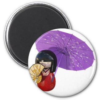 Sakura Doll with Umbrella Magnet