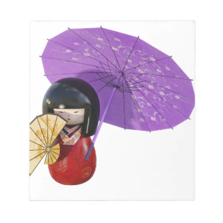 Sakura Doll with Umbrella Notepad