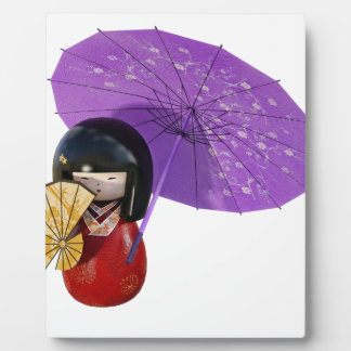 Sakura Doll with Umbrella Plaque