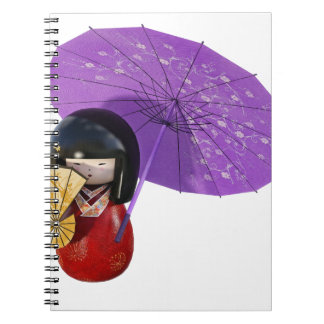 Sakura Doll with Umbrella Spiral Note Books