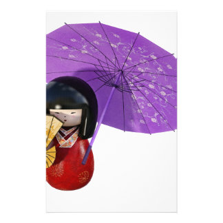 Sakura Doll with Umbrella Stationery