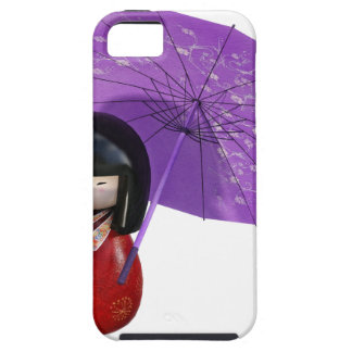 Sakura Doll with Umbrella Tough iPhone 5 Case