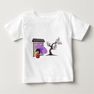Sakura Doll with Wall and Cherry Tree Baby T-Shirt