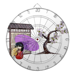 Sakura Doll with Wall and Cherry Tree Dartboard