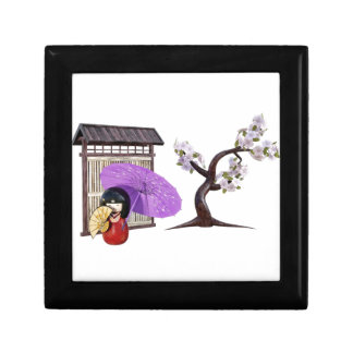 Sakura Doll with Wall and Cherry Tree Gift Box