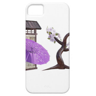 Sakura Doll with Wall and Cherry Tree iPhone 5 Case