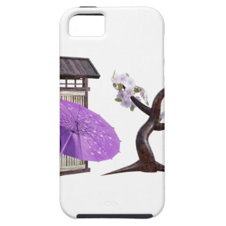 Sakura Doll with Wall and Cherry Tree iPhone 5 Covers