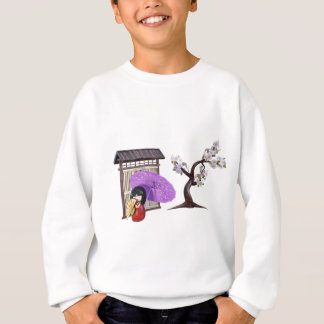 Sakura Doll with Wall and Cherry Tree Sweatshirt