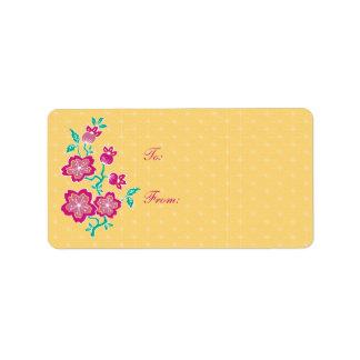 Sakura Floral Batik Gift Sticker Address Label