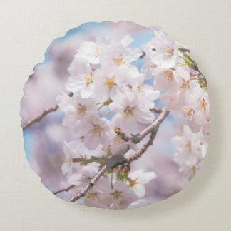 sakura flowes pilow round cushion
