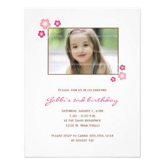 Sakura Girl Birthday Party Invite