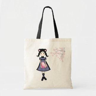 Sakura Girl Canvas Bags