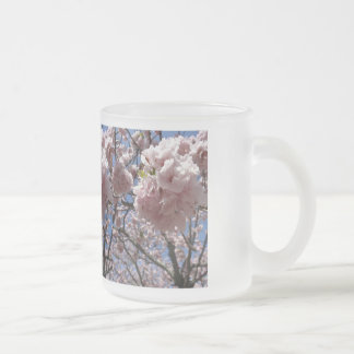 sakura in kyoto frosted glass coffee mug