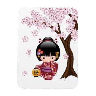Sakura Kokeshi Doll - Cute Japanese Geisha Girl Magnet