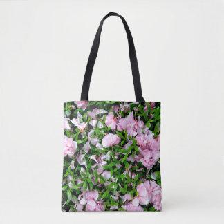 sakura petals tote bag