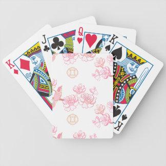 Sakura,spring blossom,Japanese cherry blossom, tre Bicycle Playing Cards