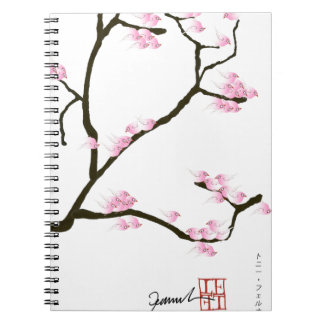 sakura tree and birds tony fernandes notebooks
