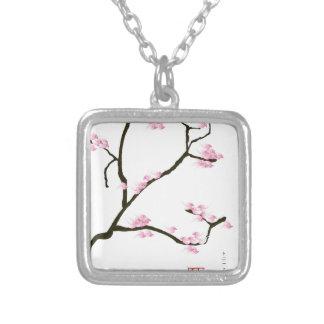 sakura tree and birds tony fernandes silver plated necklace