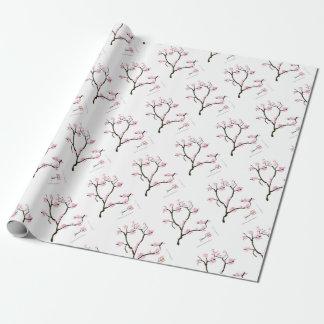 sakura tree and birds tony fernandes wrapping paper