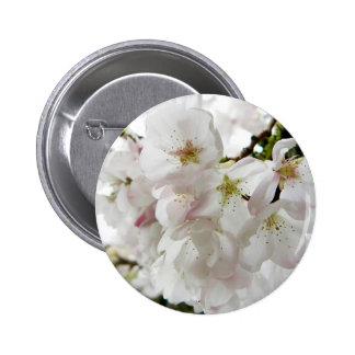 Sakura White Pinback Button