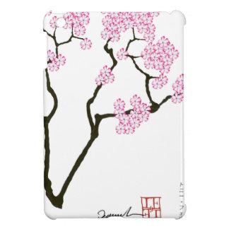 sakura with green bird, tony fernandes iPad mini cover