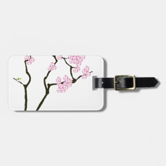 sakura with green bird, tony fernandes luggage tag