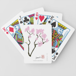 sakura with green bird, tony fernandes poker deck